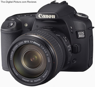 Canon EOS 30D Digital SLR Camera with a Canon EF-S 17-85mm f/4-5.6 IS USM Lens mounted