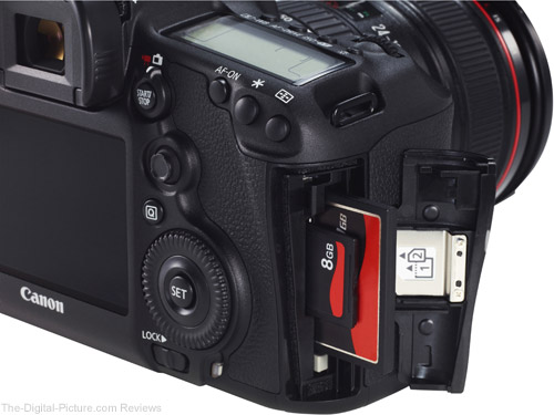 Canon EOS 5D Mark III Memory Card Door Open