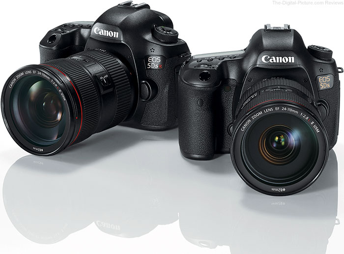Canon EOS 5Ds and 5Ds R DSLR Cameras