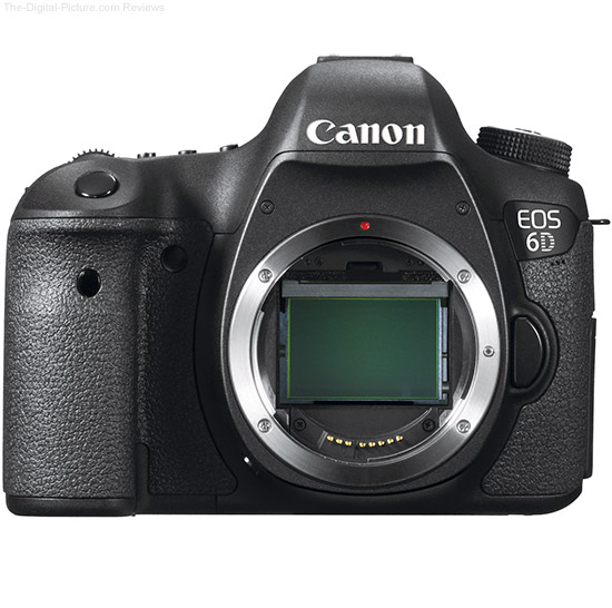 Canon EOS 6D with and without lens