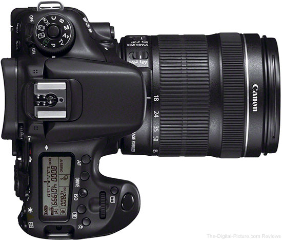 Canon EOS 70D Viewed from Top