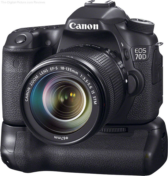 Canon EOS 70D with BG-E14 Battery Grip