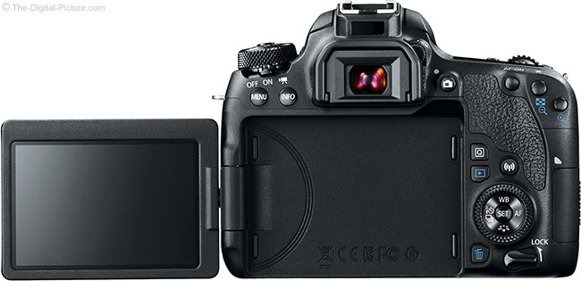 Canon EOS 77D LCD Open Back