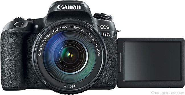 Canon EOS 77D LCD Open Front