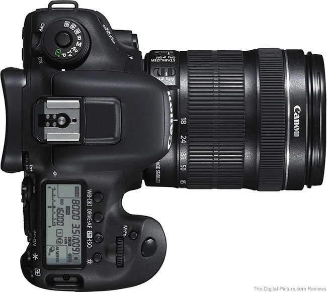 Canon EOS 7D Mark II Top