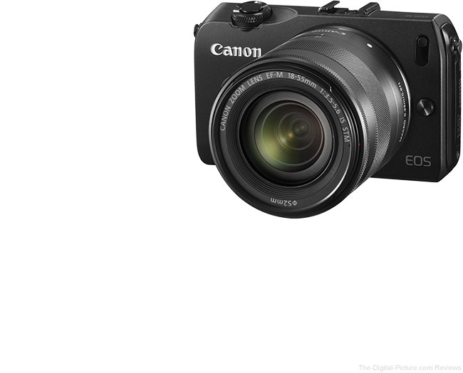 Canon EOS M with various lenses mounted