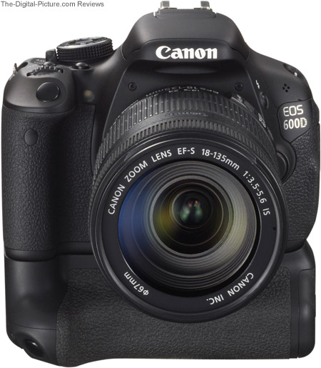 Canon BG-E8 Battery Grip on Canon EOS Rebel T3i / 600D