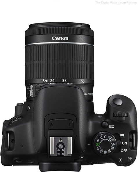 Canon EF-S 18-55mm and 18-135mm IS STM Lens Comparison - Top View
