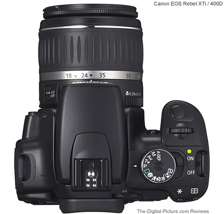 EF-S 18-55 II Lens Shown Mounted on a Canon Rebel XTi / 400D