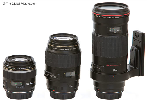 Canon Macro Lenses Size Comparison