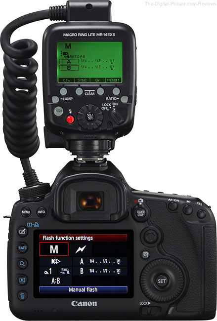 Canon Macro Ring Lite MR-14EX II Flash Info