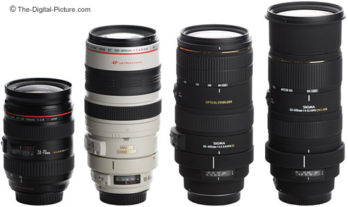 Canon and Sigma Telephoto Super Zoom Lenses