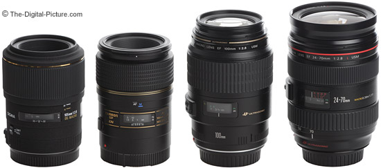 Canon, Sigma and Tamron Macro Lens Size Comparison