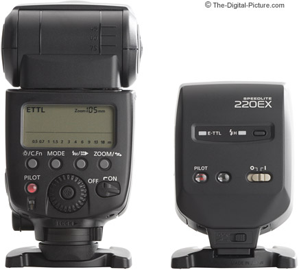 Canon Speedlite 220EX II compared to the 580EX II - Back View
