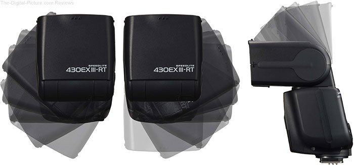 Canon Speedlite 430EX III-RT Flash Head Positions