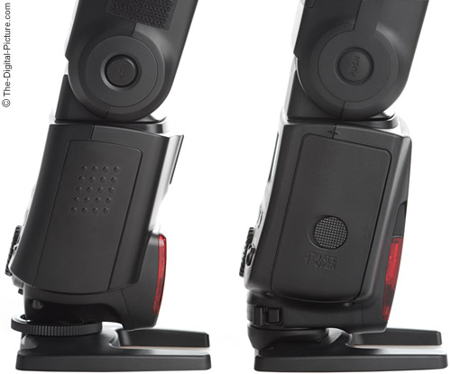 Canon Speedlite 580EX II Flash Comparison - Side View