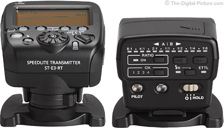 Canon Speedlite Transmitter ST-E3-RT compared to ST-E2 – Back View