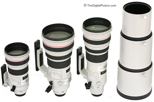 Canon Super Telephoto L Lens Comparison Picture