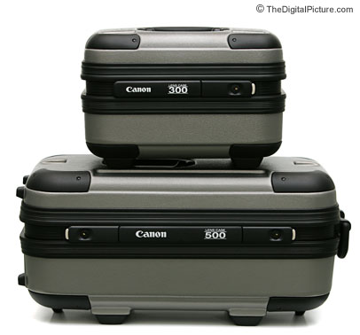 Canon Super Telephoto Lens Trunk Comparison Picture
