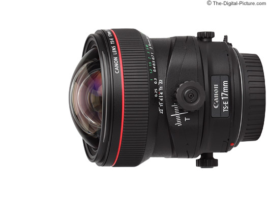 Canon TS-E 17mm f/4 L Tilt-Shift Lens Tilt, Shift and Rotate Movements