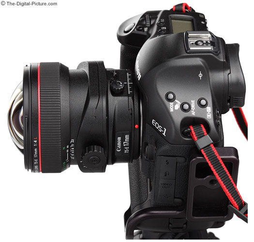 Canon TS-E 17mm f/4L Tilt-Shift Lens On-Camera Product Images