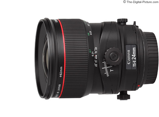 Canon TS-E 24mm f/3.5L II Tilt-Shift Lens Tilt, Shift and Rotate Movements