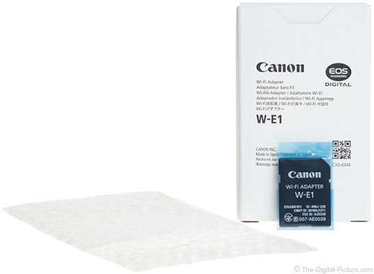 Canon W-E1 Wi-Fi Adapter Packaging