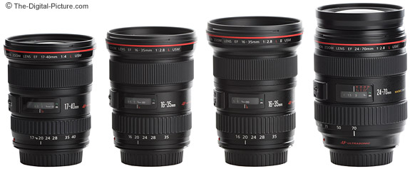 Canon Wide Angle L Series Zoom Lenses - Side View