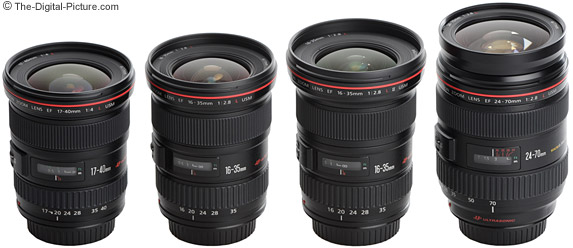Canon Wide Angle L Series Zoom Lenses