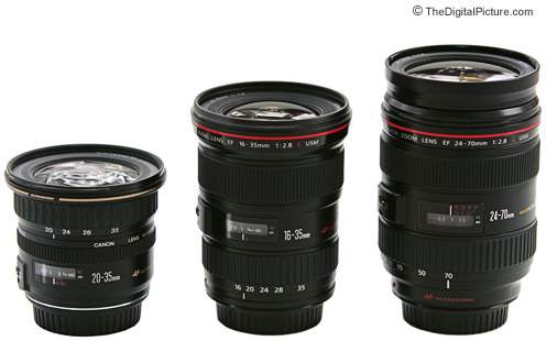 Canon Wide Angle Zoom Lens Size Comparison