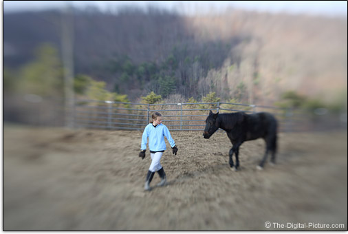 Lensbaby Composer Sample Picture - Girl and Horse
