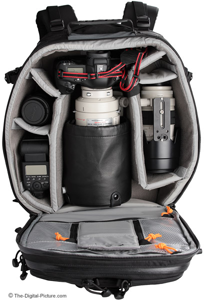 Lowepro Vertex 200 AW Camera Backpack Filled - Another Example