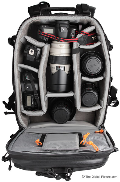 Lowepro Vertex 200 AW Camera Backpack Filled