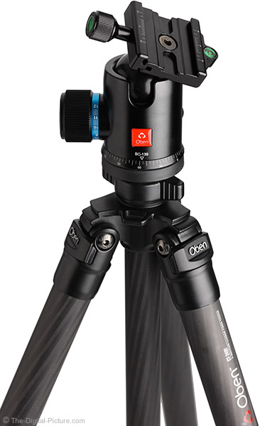 Oben BC-139 Ball Head Mounted on Tripod