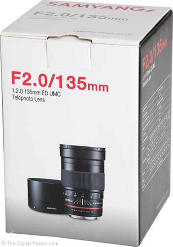 Samyang 135mm f/2 ED UMC Lens Box