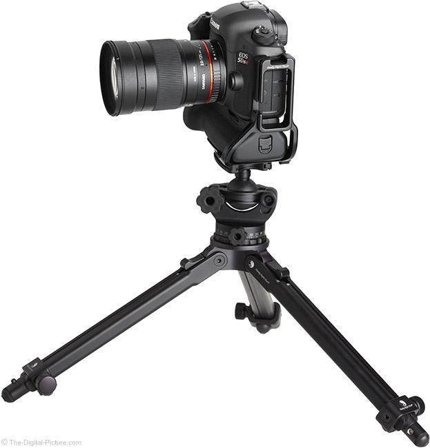 Samyang 135mm f/2 ED UMC Lens on Tripod Side View