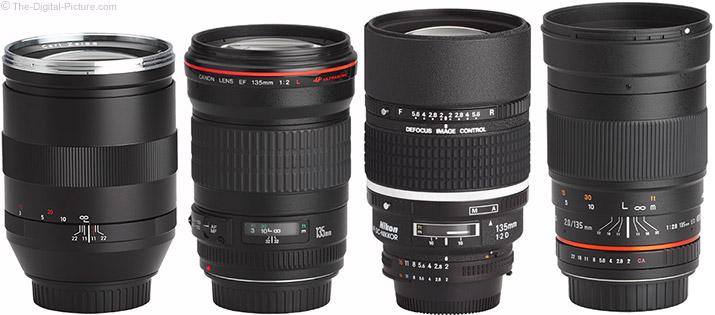 Samyang 135mm f/2 ED UMC Lens Compared to Similar Lenses