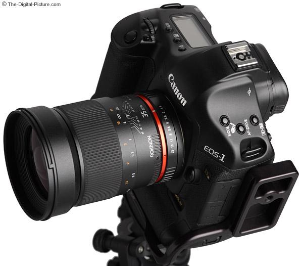 Samyang 35mm f/1.4 US UMC Lens Angled