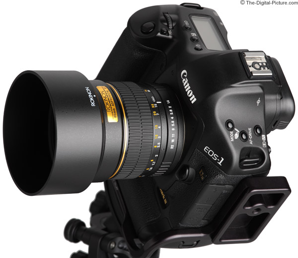 Samyang 85mm f/1.4 Lens Angle View with Hood