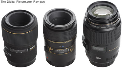 Short Telephoto Macro Lens Size Comparison