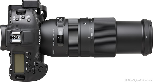 Sigma 100-400mm f/5-6.3 DG OS HSM C Lens Extended Top View