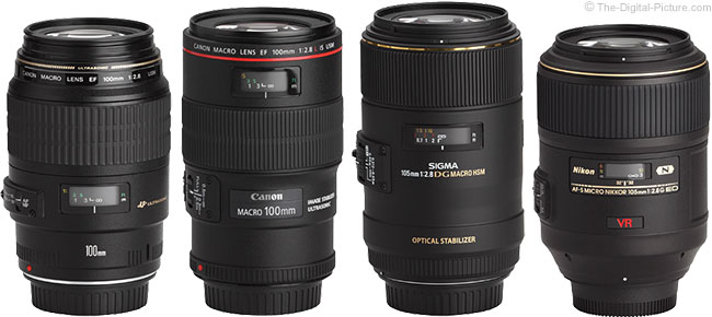 Sigma 105mm f/2.8 EX DG OS HSM Macro Lens Compared to Similar Lenses