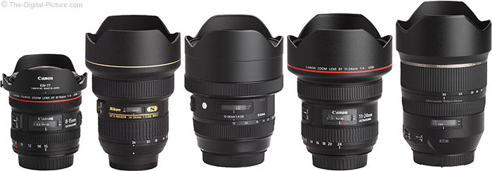 Sigma 12-24mm f/4 DG HSM Art Lens Compared to Similar Lenses