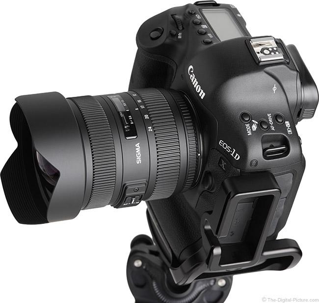 Sigma 12-24mm f/4.5-5.6 DG II HSM Lens Top Angle View