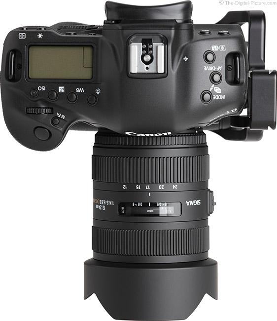 Sigma 12-24mm f/4.5-5.6 DG II HSM Lens Top View