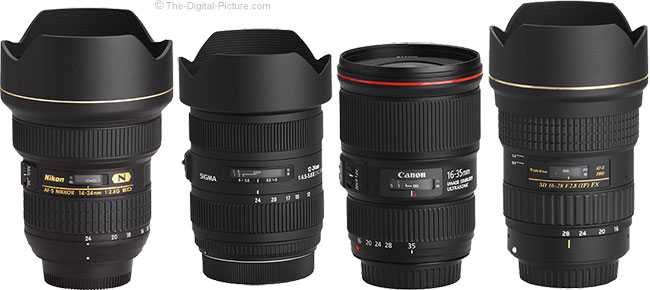 Sigma 12-24mm f/4.5-5.6 DG II HSM Lens Compared to Similar Lenses