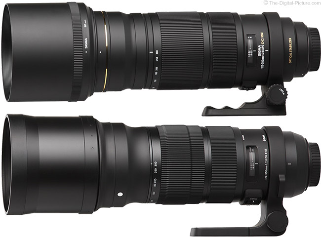 Sigma 120-300mm f/2.8 DG OS HSM Sports Lens Compared to the Previous 120-300mm EX DG OS Version
