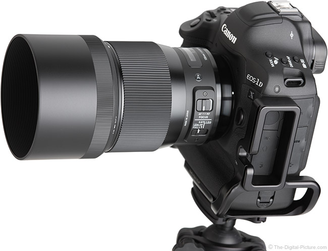 Sigma 135mm f/1.8 DG HSM Art Lens Angle View with Hood
