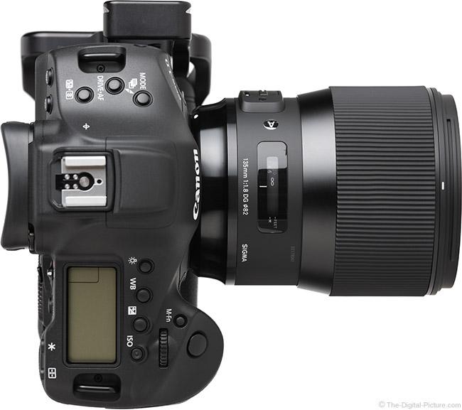 Sigma 135mm f/1.8 DG HSM Art Lens Top View