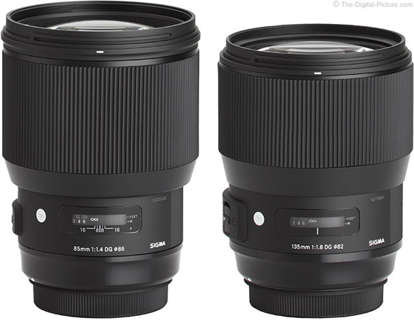 Sigma 85mm f/1.4 DG HSM Art and 135mm f/1.8 DG HSM Art Lens